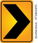 curve warning sign traffic sign | Shutterstock .eps vector #371862691