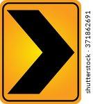 curve warning sign traffic sign | Shutterstock .eps vector #371862691