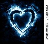 lightning heart | Shutterstock . vector #371865865