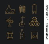 set of whisky icons. modern... | Shutterstock .eps vector #371866039