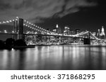 Brooklyn Bridge In Black And...