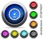 set of round glossy speedometer ...