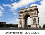 arch of triumph on the charles... | Shutterstock . vector #37188271