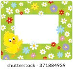 horizontal frame with a little... | Shutterstock .eps vector #371884939