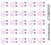 seamless pattern with hearts... | Shutterstock .eps vector #371885935
