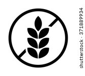 gluten free food allergy product dietary label flat vector icon for apps and websites