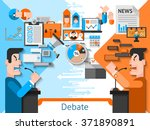 elections and voting flat color ... | Shutterstock .eps vector #371890891