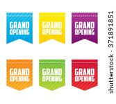 grand opening ribbon labels | Shutterstock .eps vector #371891851