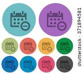 color calendar delete flat icon ...