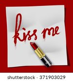 white notepad kiss me and...