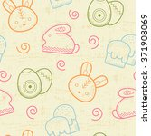 seamless easter pattern with... | Shutterstock .eps vector #371908069