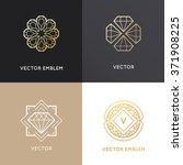 vector abstract logo design... | Shutterstock .eps vector #371908225