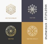 vector abstract monograms and... | Shutterstock .eps vector #371913544