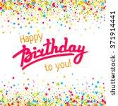 happy birthday greeting card...   Shutterstock .eps vector #371914441