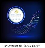 abstract wave of fiber optic...   Shutterstock .eps vector #371915794