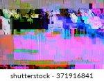 tv weak signal   photo taken... | Shutterstock . vector #371916841