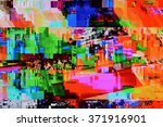 tv weak signal   photo taken... | Shutterstock . vector #371916901