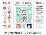 detox posters and design... | Shutterstock .eps vector #371916907
