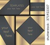 rectangular greeting card... | Shutterstock .eps vector #371922337