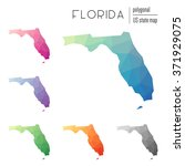 florida state map in geometric... | Shutterstock .eps vector #371929075