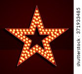 broadway style light bulb star
