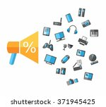 closeout tvs  video  audio ... | Shutterstock .eps vector #371945425