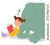 my best friend is a elephant ... | Shutterstock .eps vector #371946715