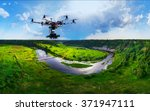 drone with professional cinema...   Shutterstock . vector #371947111