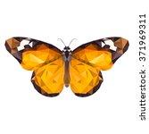 vector low poly monarch... | Shutterstock .eps vector #371969311