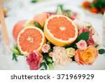 decoration of grapefruit with... | Shutterstock . vector #371969929