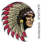 american native chief | Shutterstock .eps vector #371977879