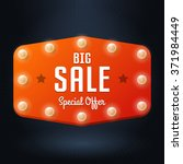 vector banner with text big... | Shutterstock .eps vector #371984449