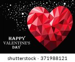 happy valentines day  greeting... | Shutterstock . vector #371988121