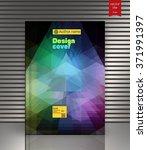 blank vertical hardcover book... | Shutterstock .eps vector #371991397