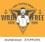 free and wild hipster style... | Shutterstock .eps vector #371991541