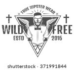 free and wild hipster style... | Shutterstock .eps vector #371991844