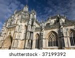 A gem of the Portuguese Gothic, built between 1386 and 1517 - stock photo