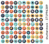 flat design icons for... | Shutterstock . vector #371996389