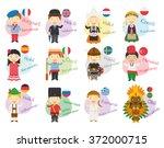 vector illustration of cartoon... | Shutterstock .eps vector #372000715