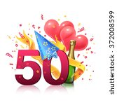 gift card. illustration. 50... | Shutterstock . vector #372008599