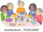 illustration of female senior... | Shutterstock .eps vector #372013009
