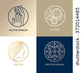 vector set of linear logo... | Shutterstock .eps vector #372014485