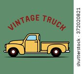 one thin line  flat vintage... | Shutterstock .eps vector #372020821