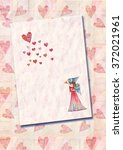 heart  greeting card.  colorful ... | Shutterstock . vector #372021961