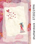 heart  greeting card.  colorful ... | Shutterstock . vector #372021994