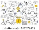 hand draw doodles vector... | Shutterstock .eps vector #372022459