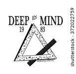deep in mind type slogan for... | Shutterstock .eps vector #372022759