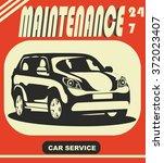 car  | Shutterstock .eps vector #372023407