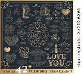 valentines day design elements. ... | Shutterstock .eps vector #372026365