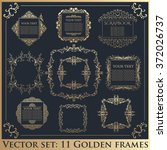 set of vintage calligraphic... | Shutterstock .eps vector #372026737